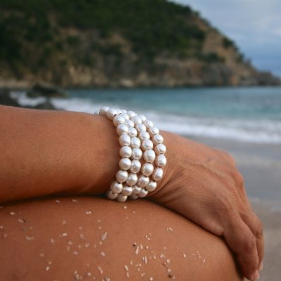 shell beach pearls St Barths jewelry