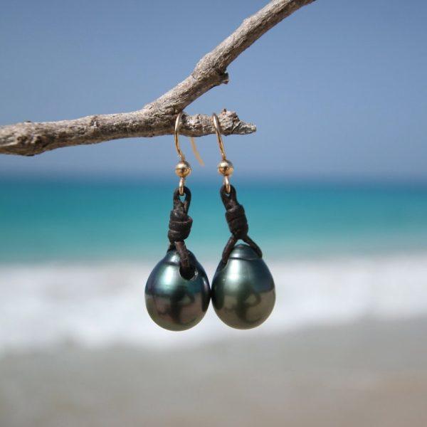 tahitian pearls earrings st barthelemy