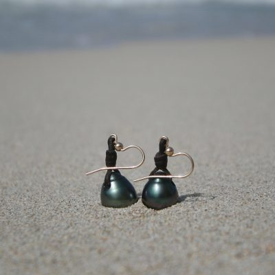 Tresors de St Barth pearls earrings