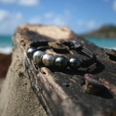 pearls and leather jewelry shop st barth