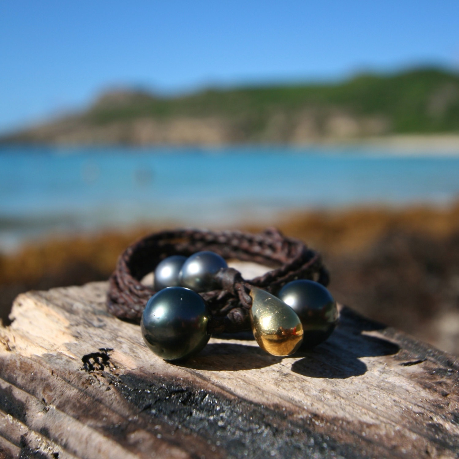 St Barth pearl leather necklace jewelry