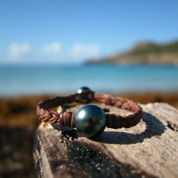 St barth pearls and leather jewelry