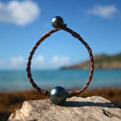 leather bracelet for man st barth