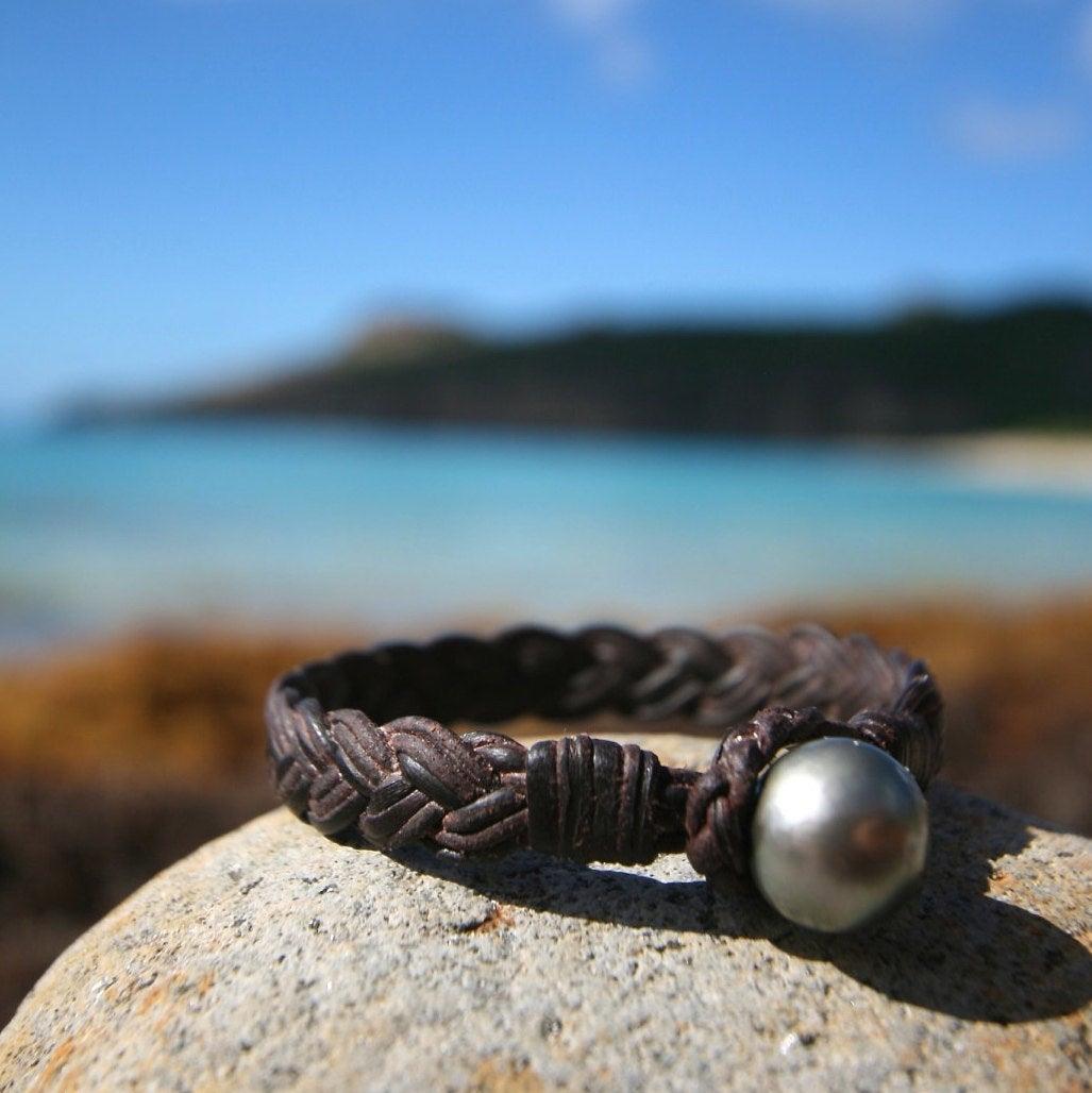 leather bracelet for men St Barths jewelry