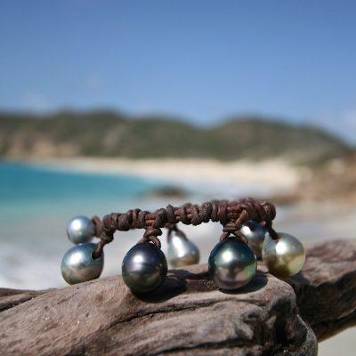 pearls drops bracelet st barths jewelry