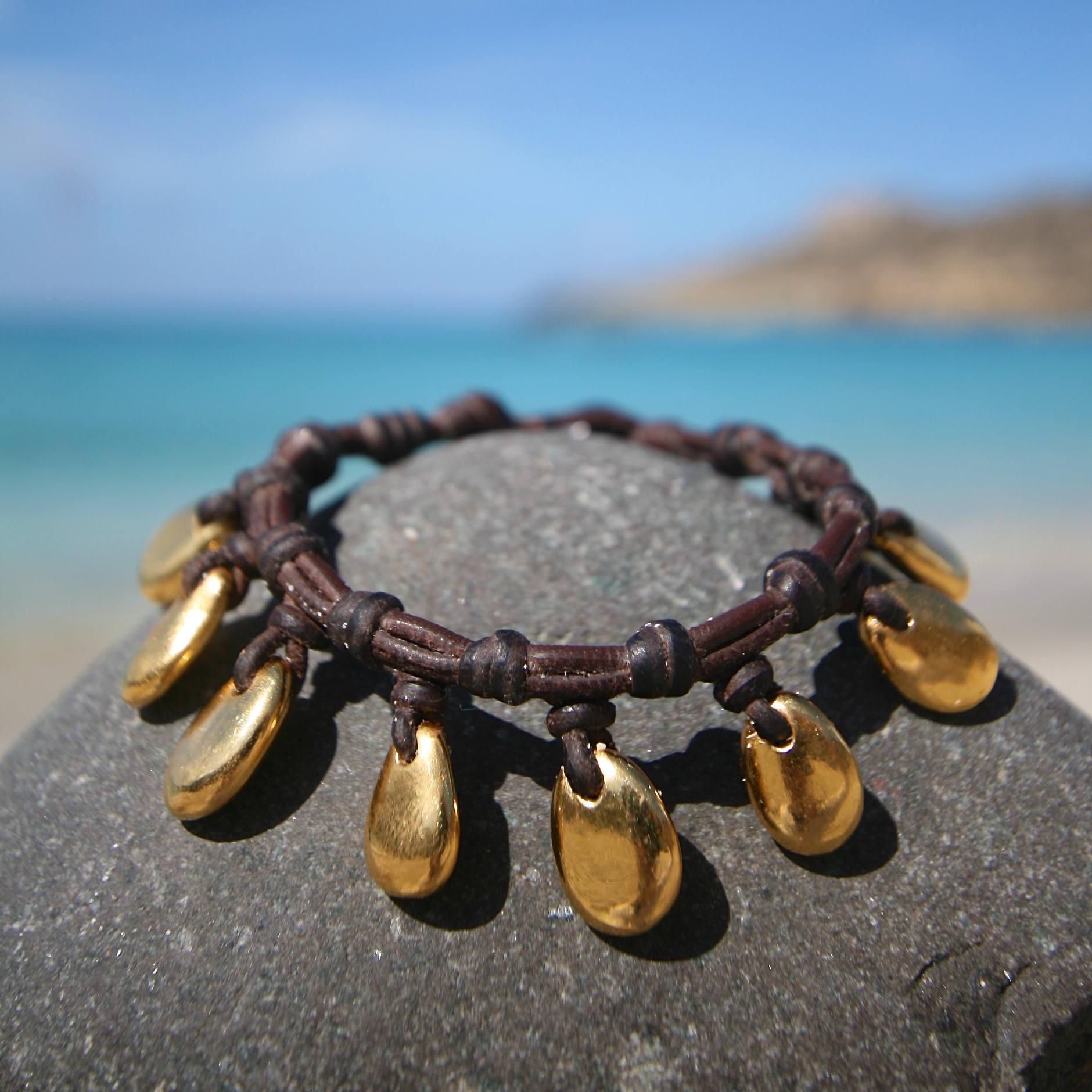leather bracelet jewelry st barth