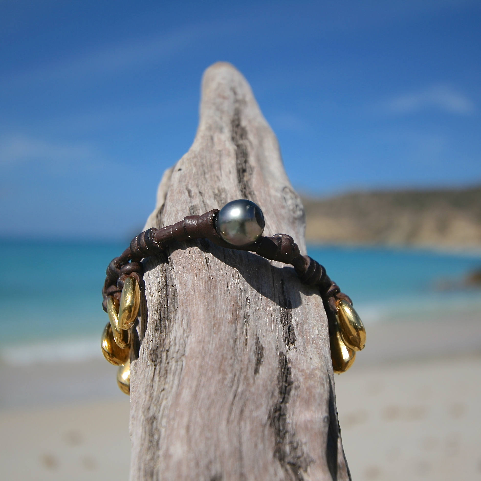 gold pebble beach jewelry st barth