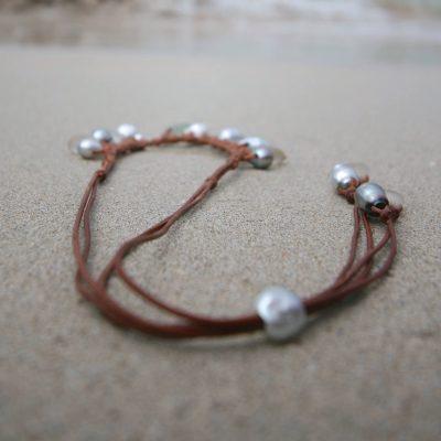 leather beach jewelry St Barths jewelry