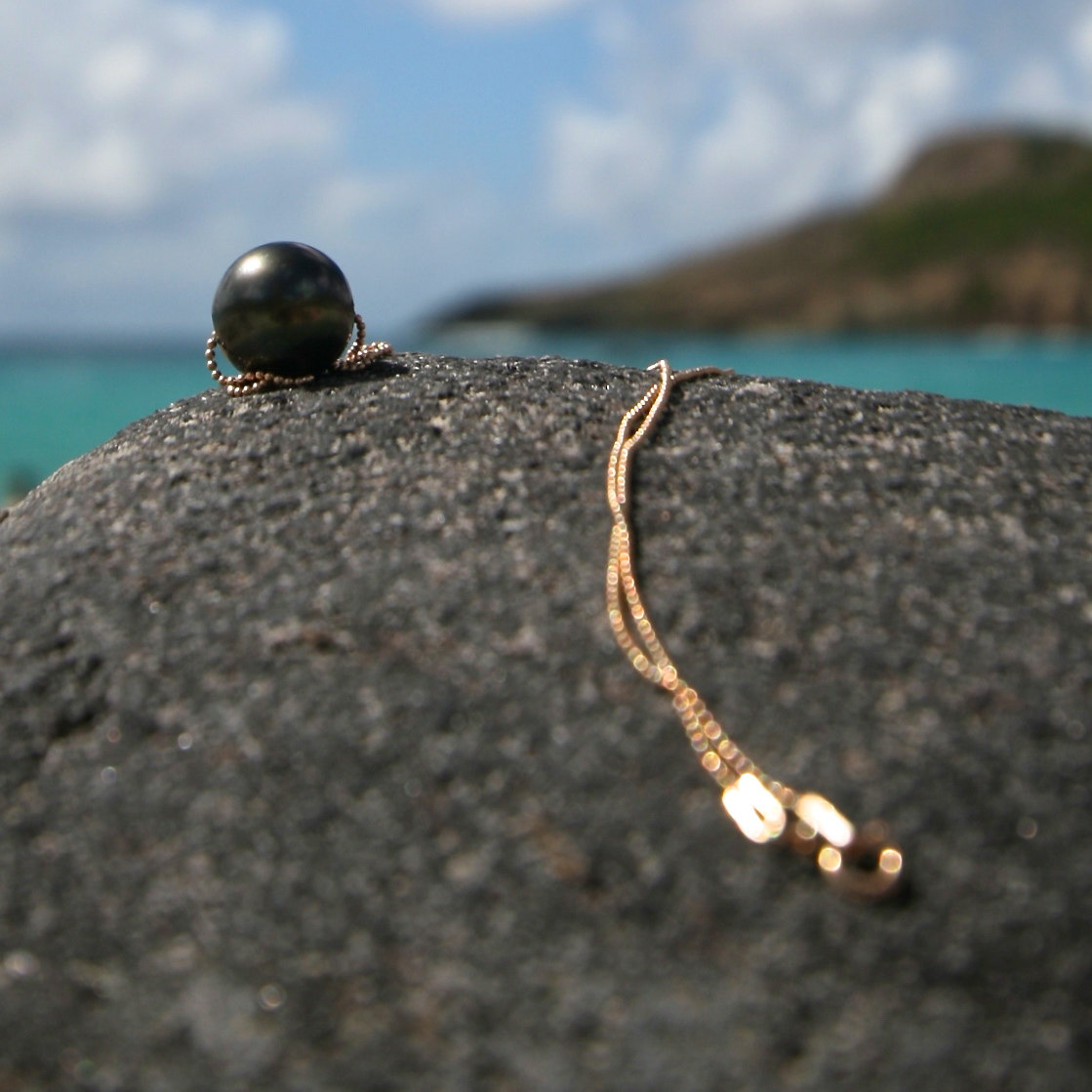 pearls chain St Barts jewelry