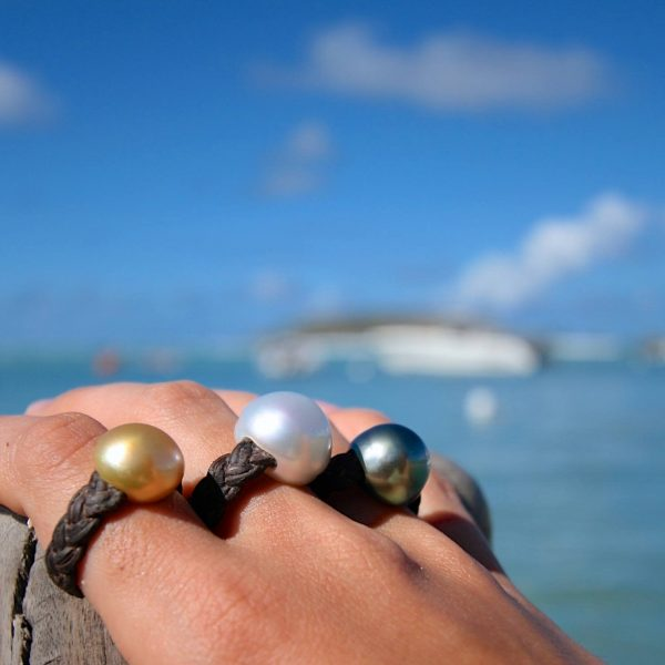 multicolor pearls rings st barth jewelry