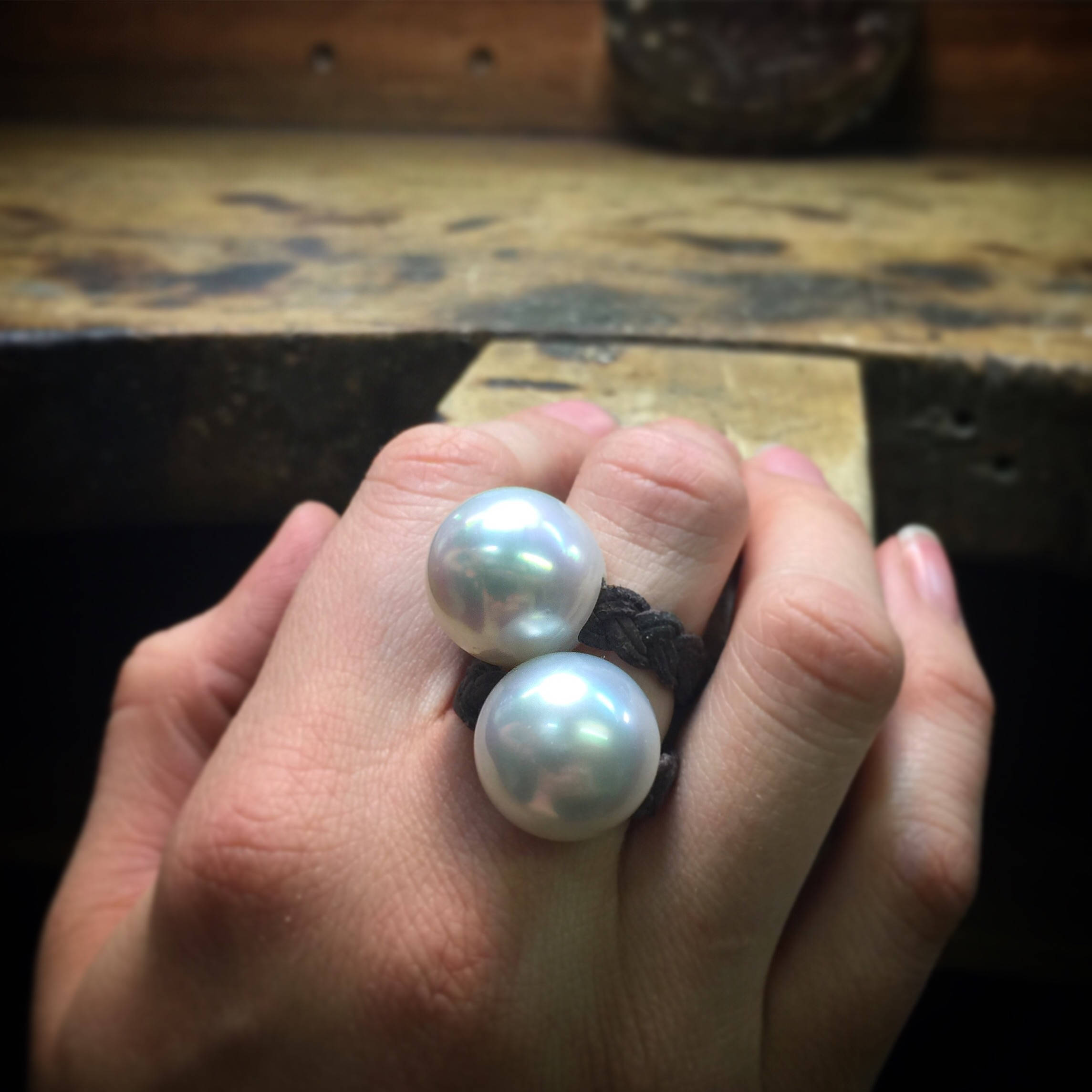 white pearls rings st barth jewelry