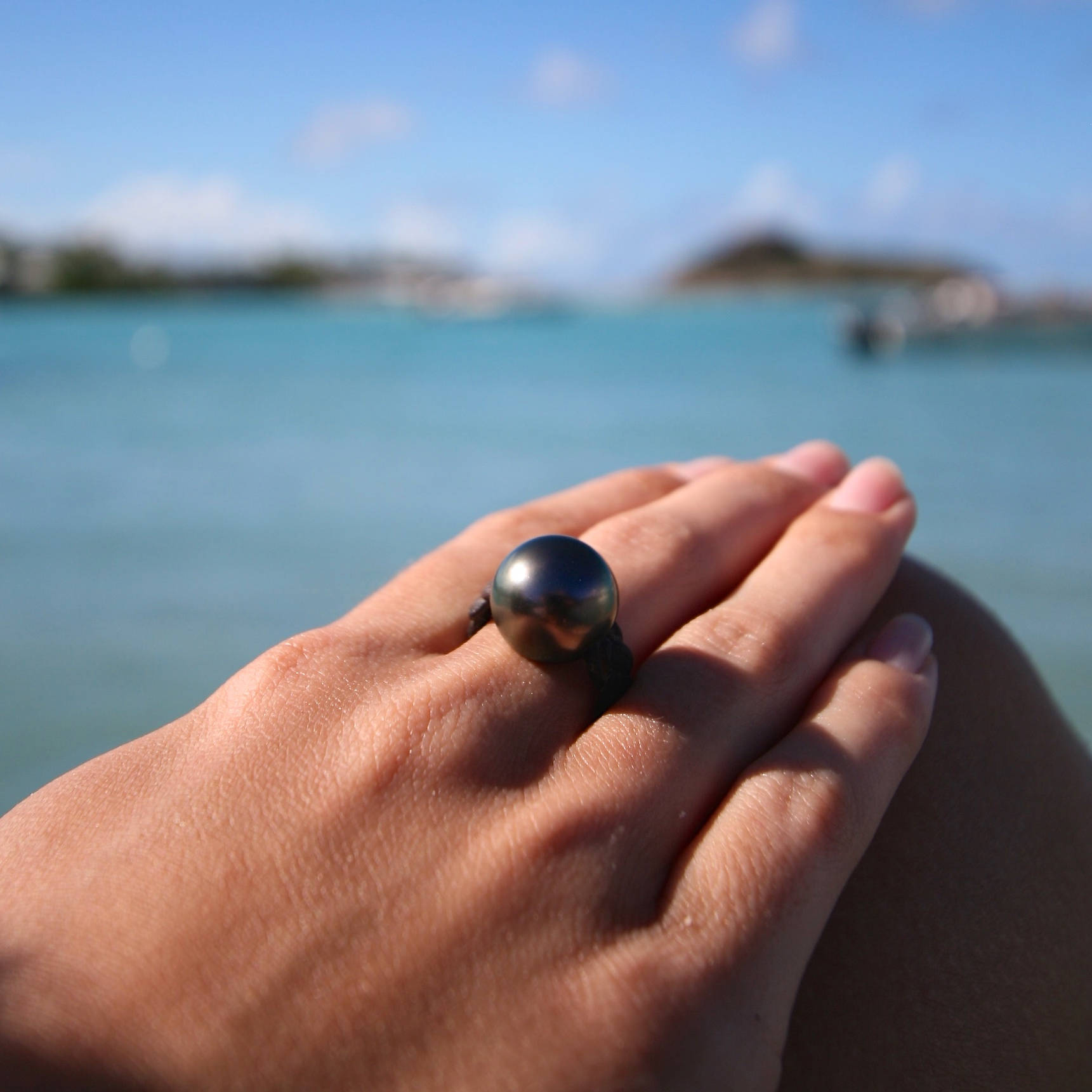 Tahitian pearl ring st barth jewelry