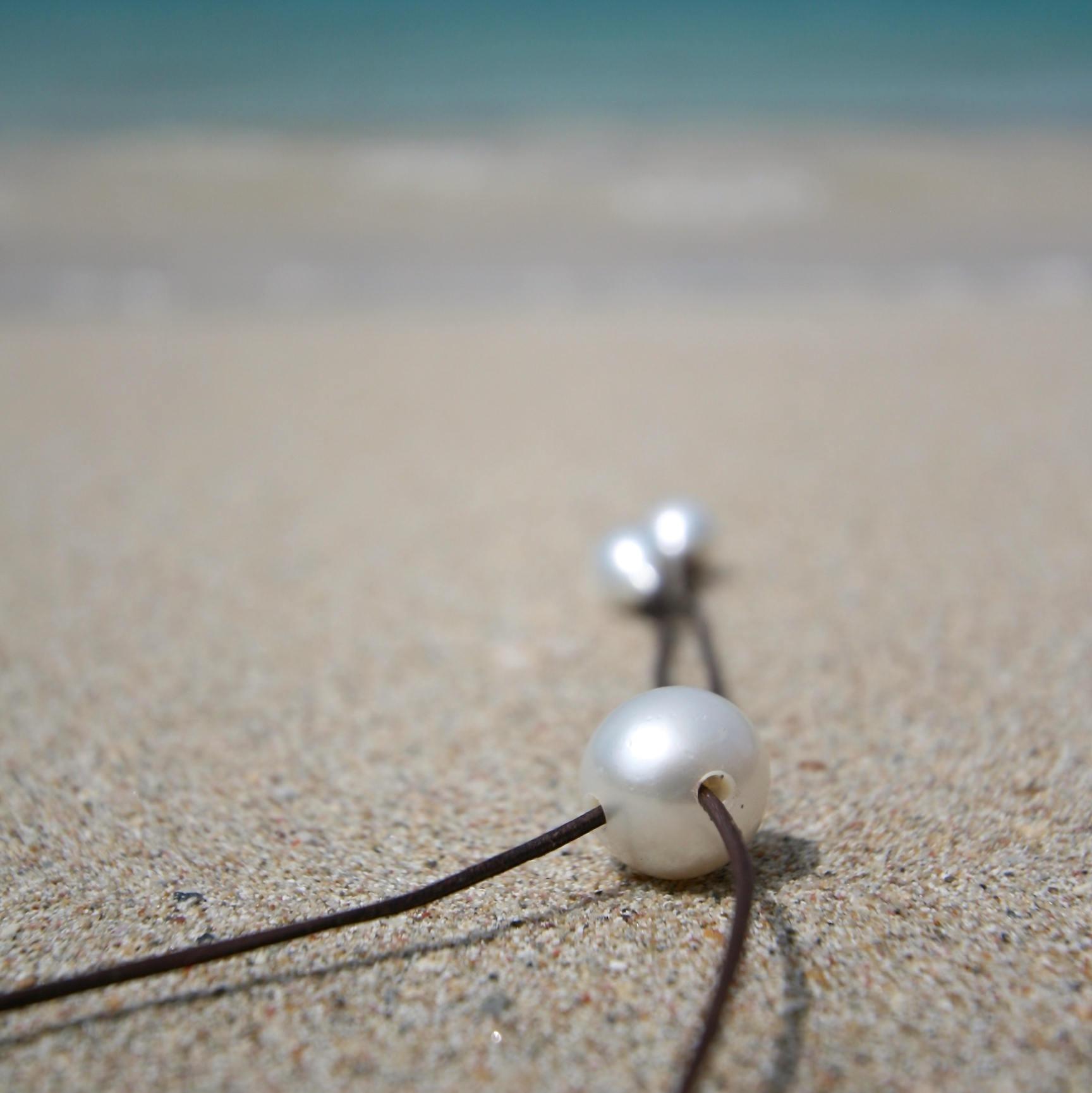 white pearl pendant St Barth jewelry