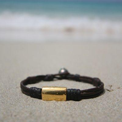 gold ingots bracelet st barth jewelry