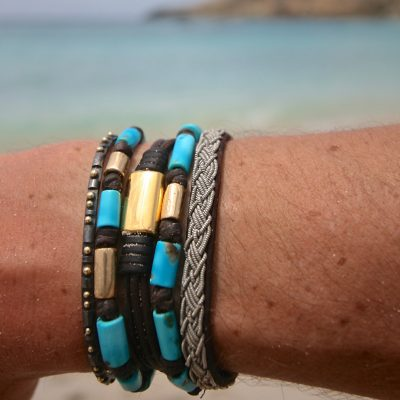 tresors de st barth leather bracelet