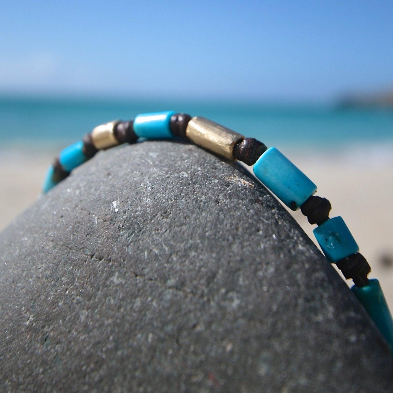 turquoise gold bracelet jewelry St Barth