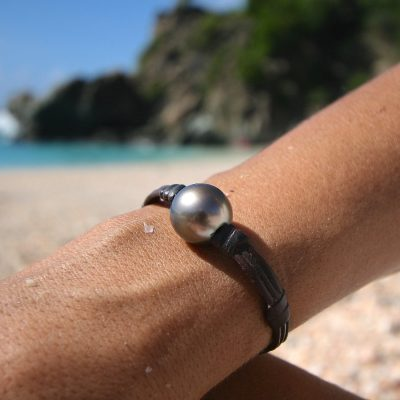 leather beach st barth jewelry pearls