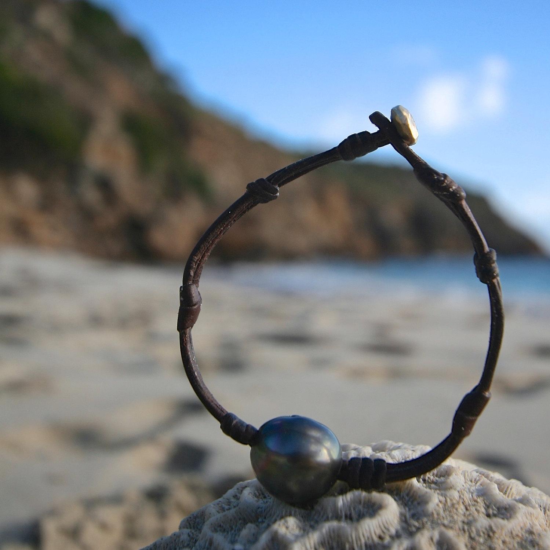 gold leather bracelet Jewelry st barthelemy