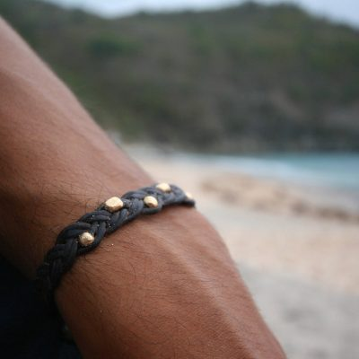 pearls men's leather St Barths jewelry