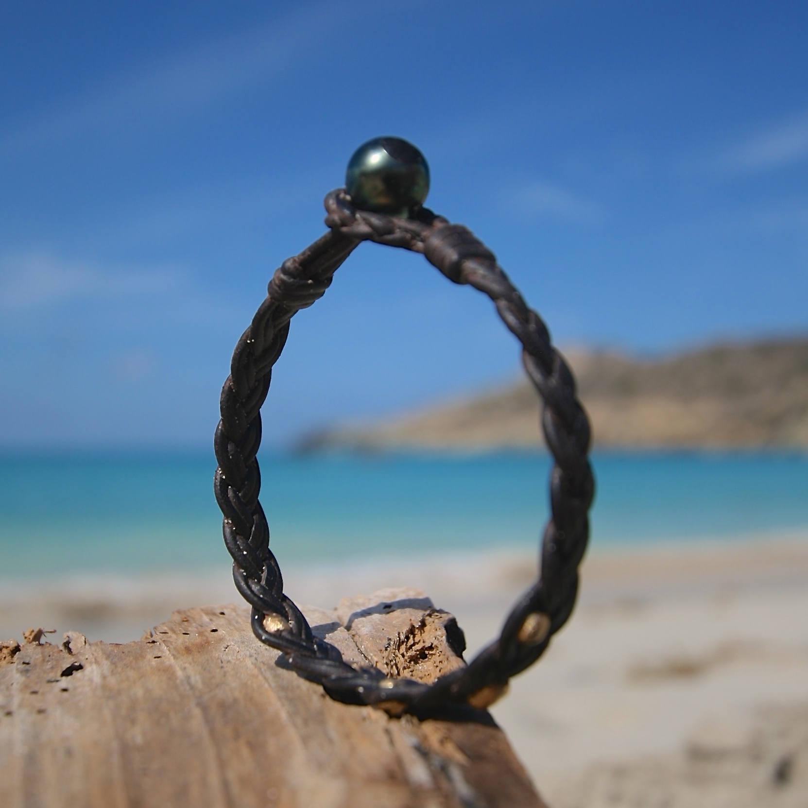 bracelet for men leather St Barths jewelry