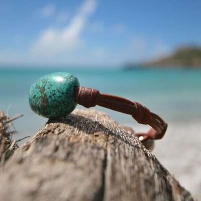 St Barthelemy island leather jewelry