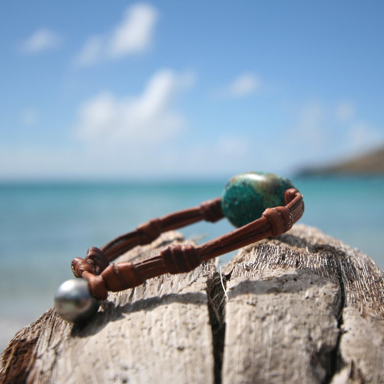 leather bracelet St Barthelemy island
