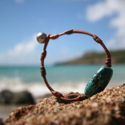 leather bracelet jewelry st barth island