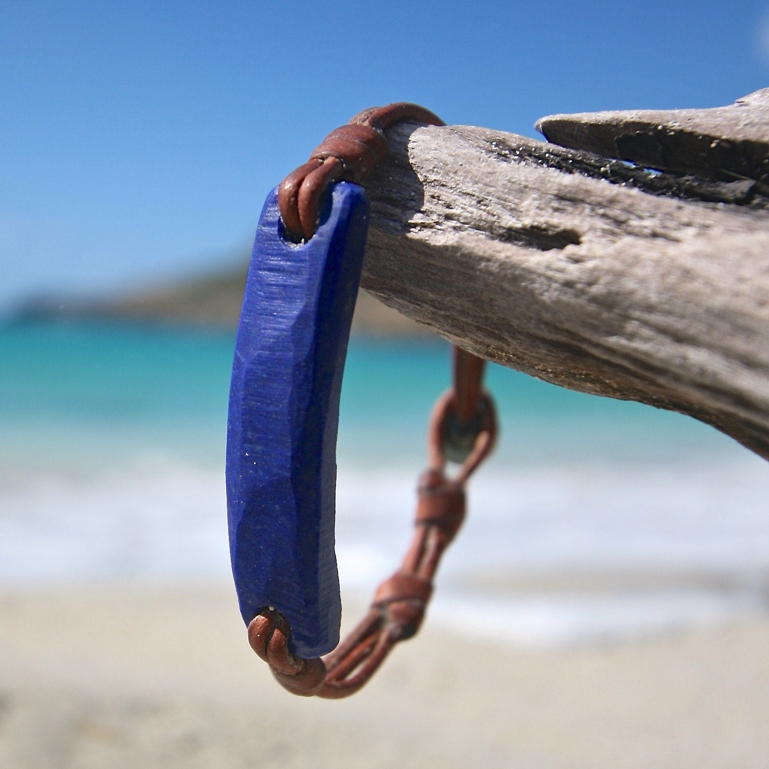 lapis lazuli leather bracelet Jewelry st barthelemy