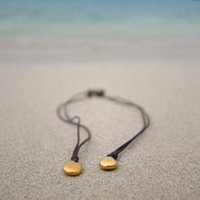 pure gold pebble pendant st barth jewelry