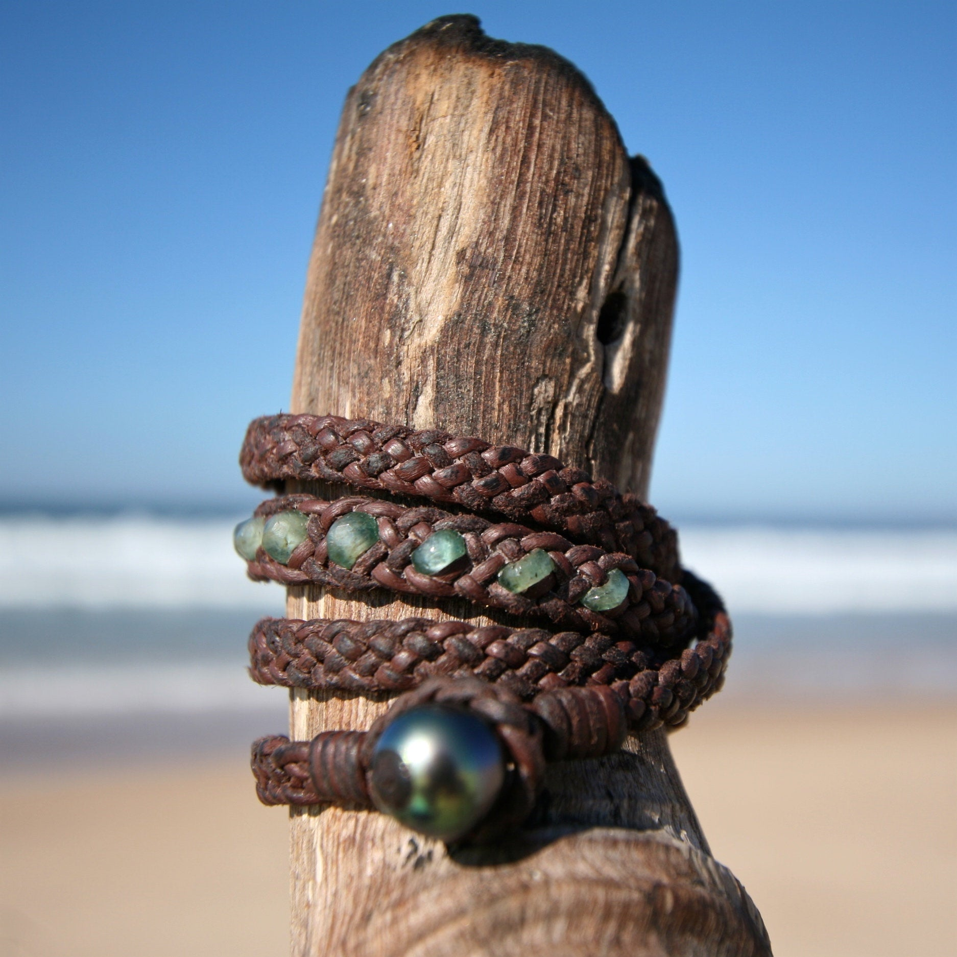 boho St barth jewelry leather