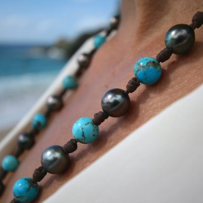 tahitian pearls necklace St Barts jewelry