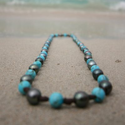 sautoir pearls necklace St Barts jewelry