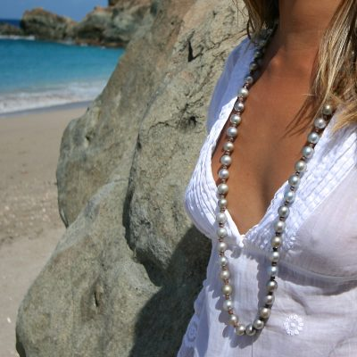 tahitian pearls long neckace Jewelry from St Barth