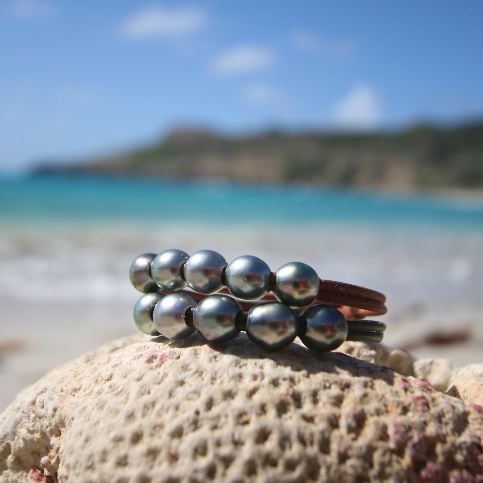 pearl and leather jewelry st barths