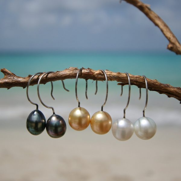 cultured pearls earrings St barth jewelry