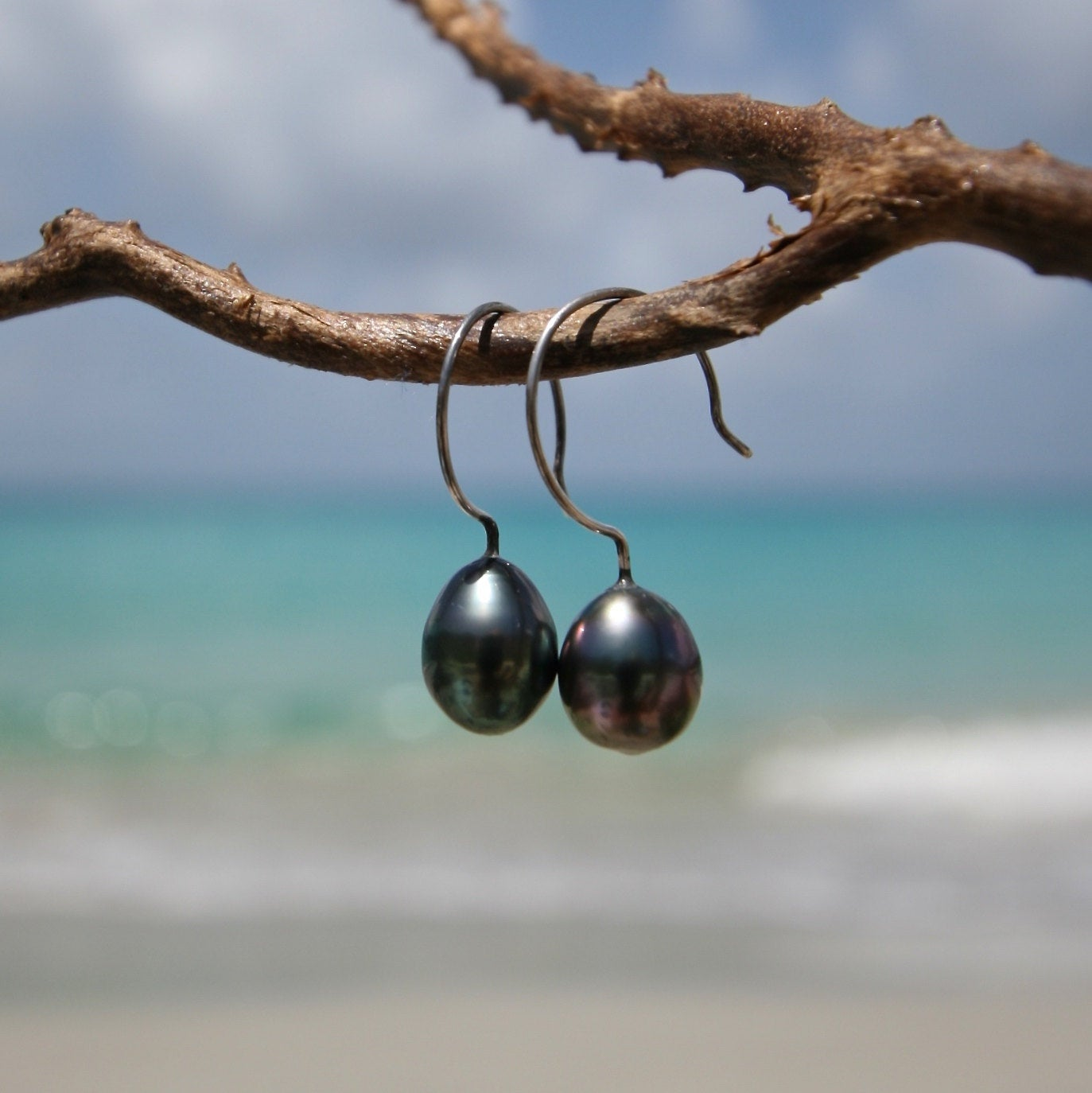 St barth jewelry tahitian pearls earrings