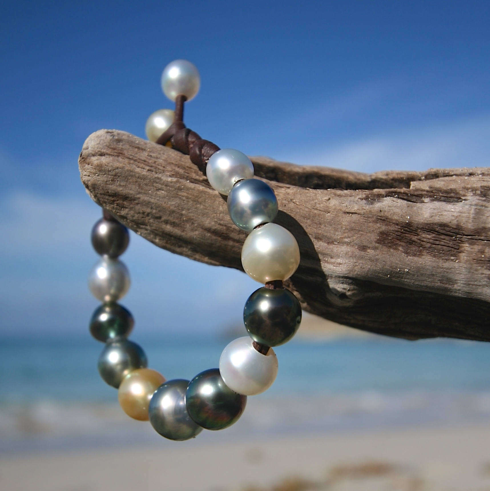 pearls multicolor bracelets St barth jewelry