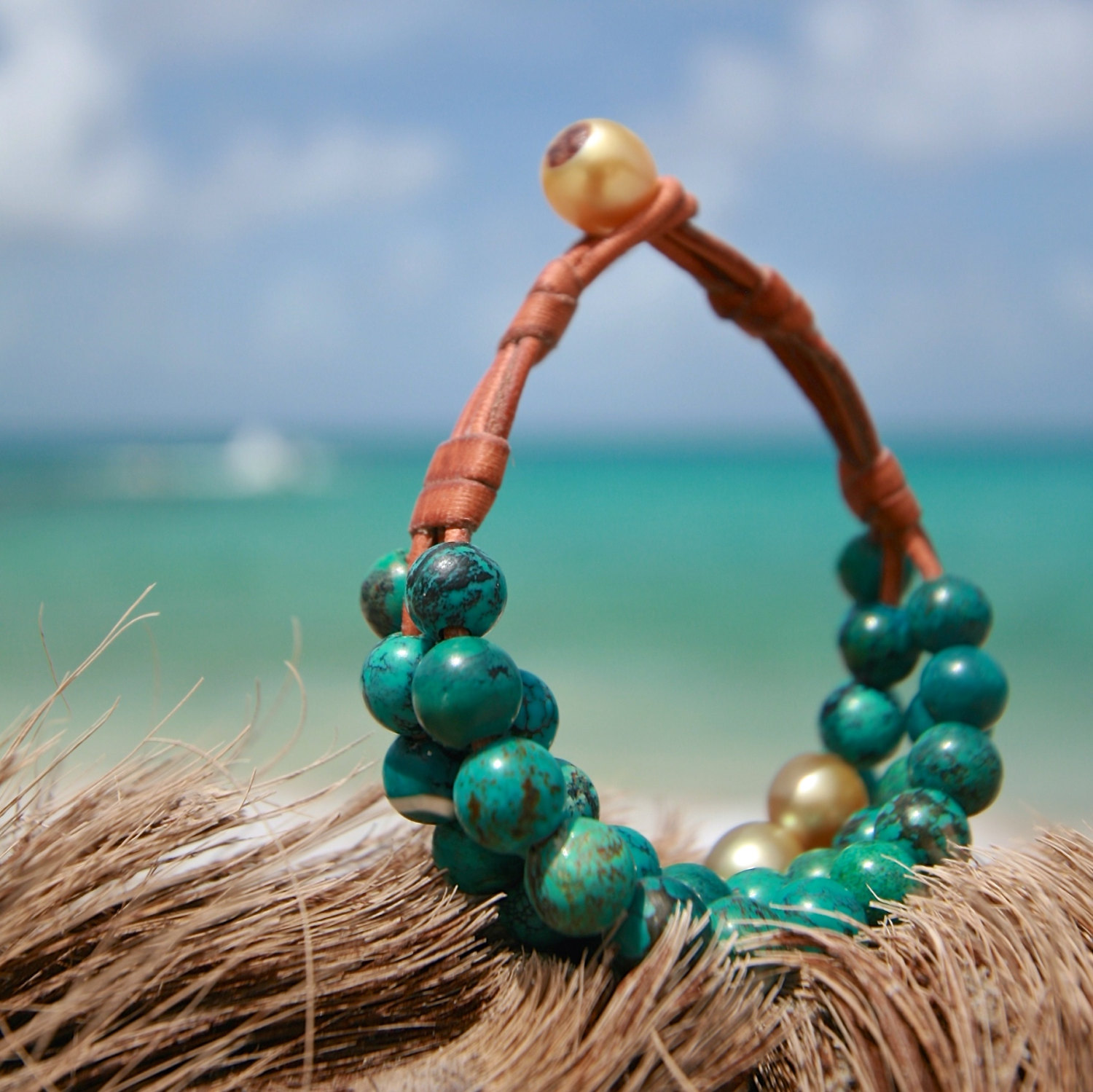 St barth jewelry pearls and leather
