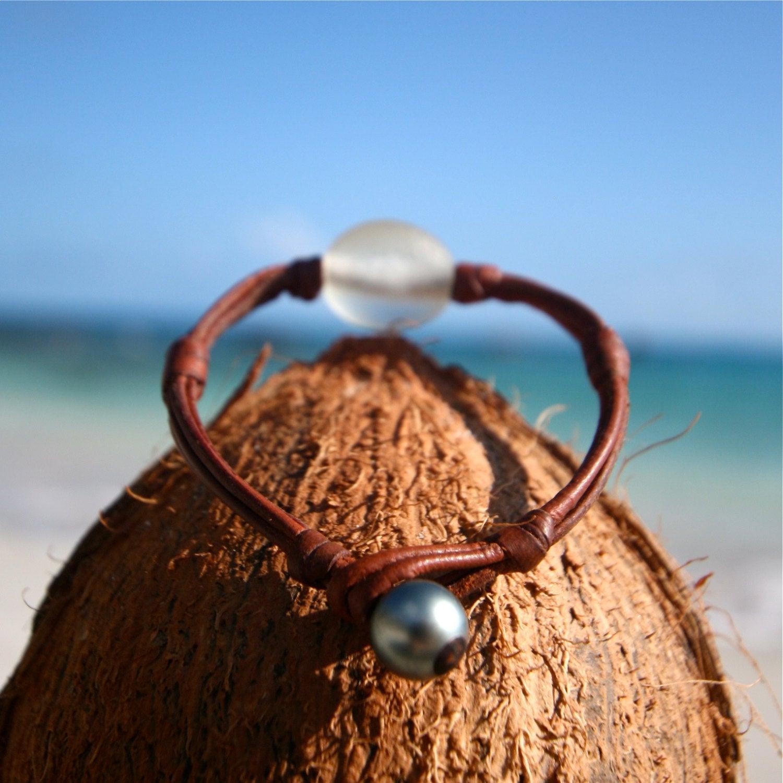 leather bracelet st barth jewelry