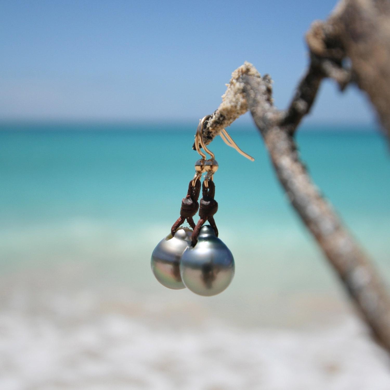 Pearls drops earrings st barth jewelry