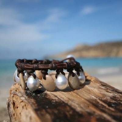 St barthelemy leathered pearls bracelet