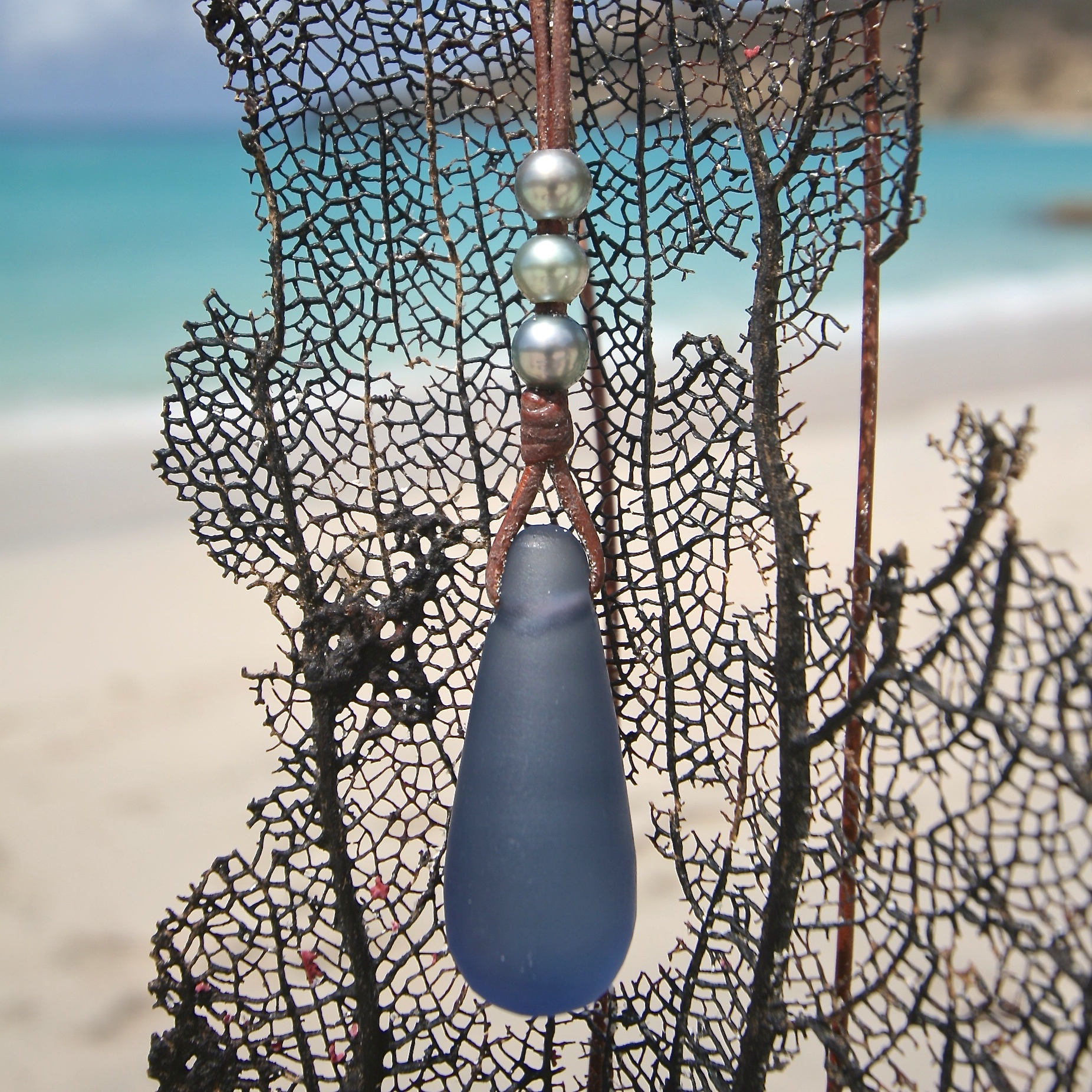 Tresors de St Barth sea glass necklace