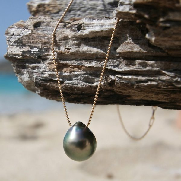 black pearls pendant necklace st barth