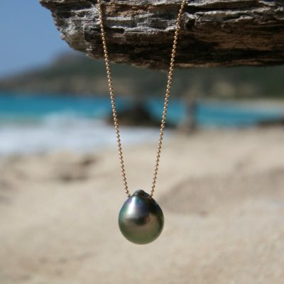 tahitian pearl drop pendant necklace