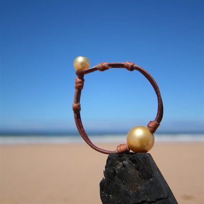 st barth jewelry leather pearls bracelet