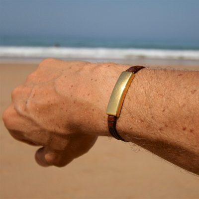 leather bracelet men st barths jewelry
