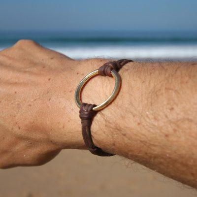 men's gold bracelet st barth jewelry