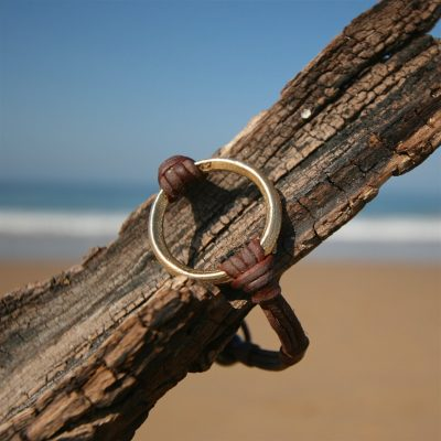 st barth jewelry leather gold bracelet