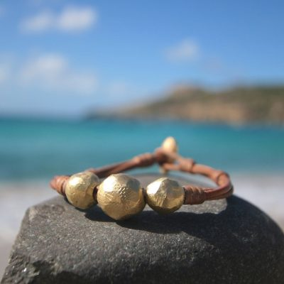 St Barth leather and pearls jewelry