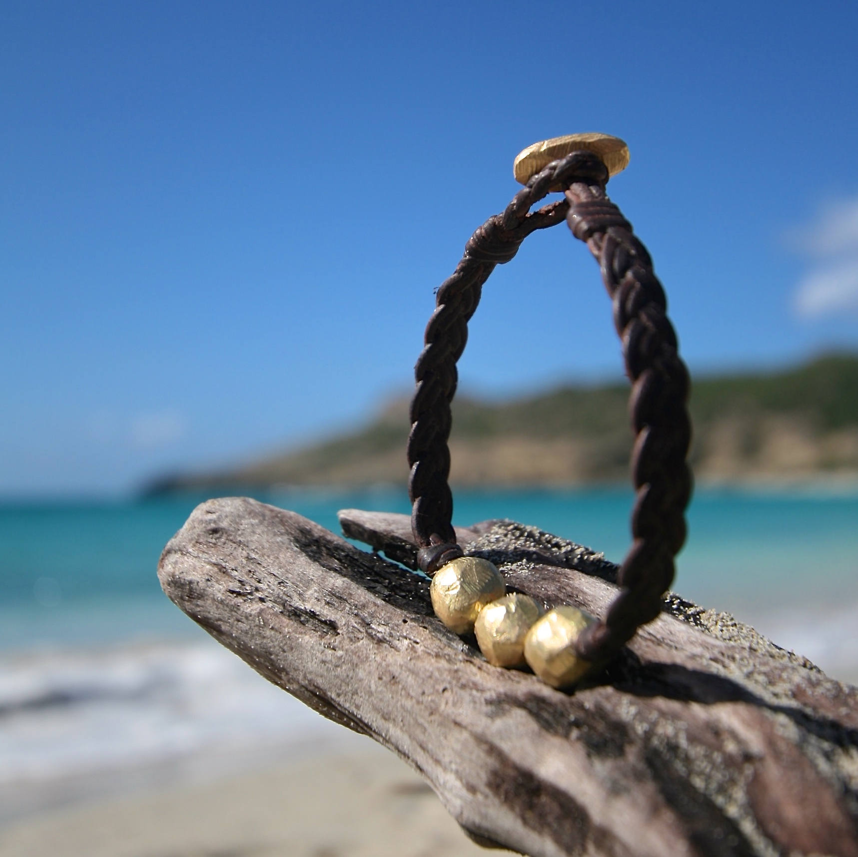 leather pearls gold jewelry st barths